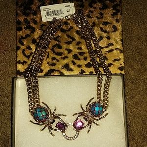 Beautiful Besty Johnson Spider necklace